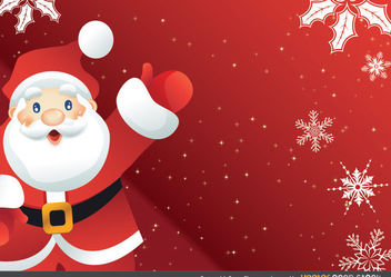 Cartoonish Santa Claus Greeting Card - Free vector #167965