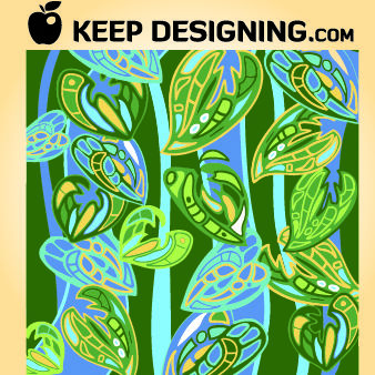 Large Floral Jungle Pattern - Kostenloses vector #167975