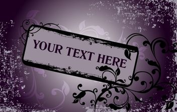 Grungy Purple Floral Frame Template - Free vector #168065