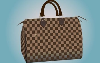 Purse Bag with Chase Pattern - Kostenloses vector #168185