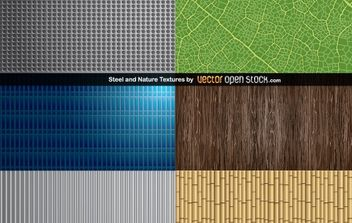 Steel and Nature Textures - vector #168485 gratis