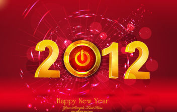 Happy New Year 2012 - vector gratuit #168605
