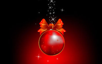 Cool Christmas Ball - Free vector #168625
