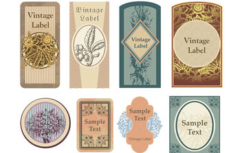 Vintage Labels - vector #168685 gratis