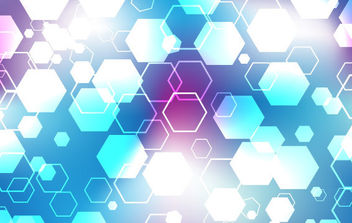 Blue and purple hexagonal vector - Free vector #168855