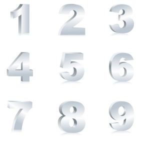 Number Set - vector gratuit #168875