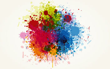 Grunge Colorful Splashing Vector Illustration - Kostenloses vector #168915