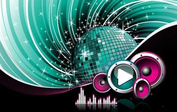 The Trend of Music Illustration Vector Material 5 - Free vector #169095