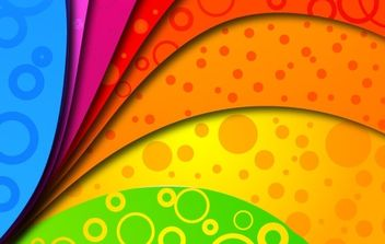 Rainbow Colors on Vector Background - Free vector #169115