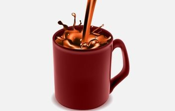 Coffee Mug with Chocolate Coffee - vector gratuit #169155