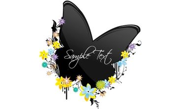 Butterfly on Flowers - vector gratuit #169165
