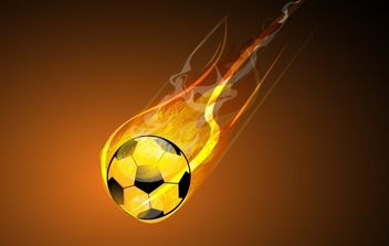 Burning Soccer - Free vector #169175