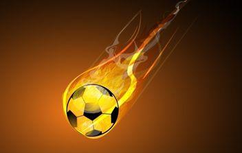Burning Soccer - vector gratuit #169175