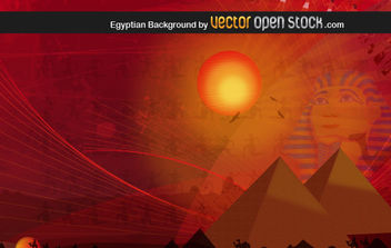 Egyptian Background - vector gratuit #169225