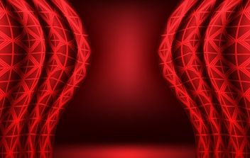 Red vector curtain background - Free vector #169265