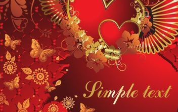 Valentine Card - Free vector #169325