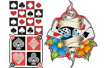 Poker Elements Vector - Free vector #169345