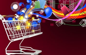 Shopping cart - vector #169375 gratis