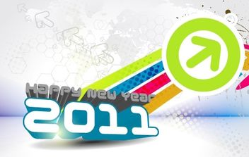 Happy New Year 2011 - vector gratuit #169505