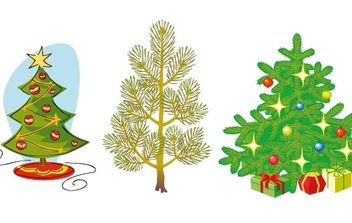 Christmas Trees - vector gratuit #169595