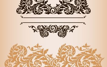 Practical fashion exquisite lace pattern vector material - Free vector #169625