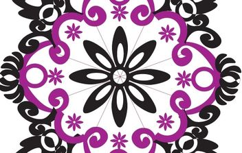 Flower type Ornament Shape - Free vector #169805