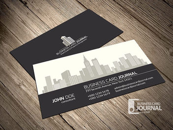 Beautiful Property Management Business Card - Free vector #170465