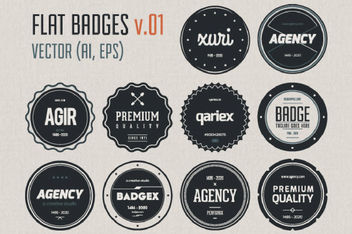 Vintage Circular Label Pack Template - Free vector #170595