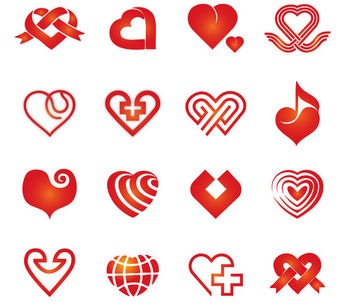 Abstract Red Decorative Heart Collection - vector gratuit #170785