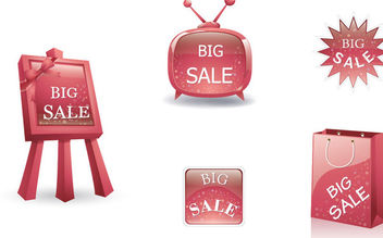 Glossy 3D Big Sale Design Element - Free vector #170805