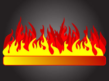 Abstract 3 Stage Fire Flame Banner - Kostenloses vector #170815