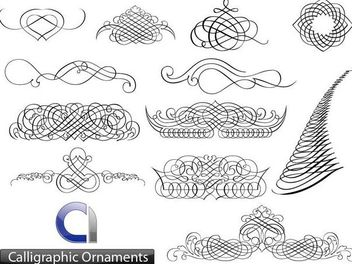 Creative Calligraphic Ornament Set - Free vector #170865
