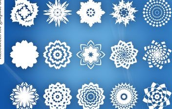 Abstract Decorative Ornament Flower Pack - Free vector #170955