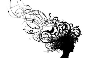 Swirly Curls Bad Hair Day - vector #171075 gratis