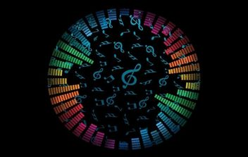 Music Notes Vector Background - Free vector #171085