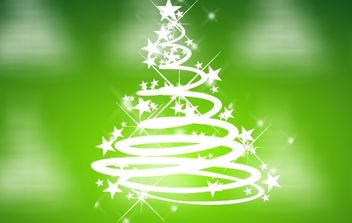 Cool Green Christmas Vector - Free vector #171195