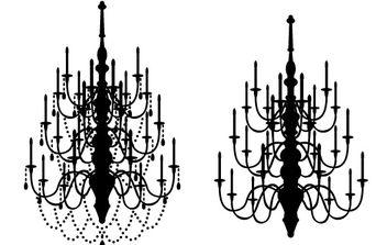 vector chandeliers - Free vector #171355