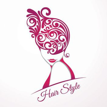 Girls Fashion Hair Style Swirls - Kostenloses vector #171405