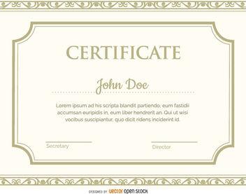 Certificate template - Kostenloses vector #171425