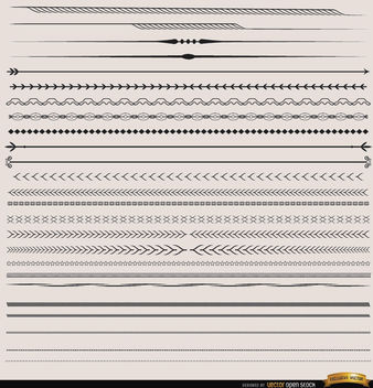 25 Dividers with many shapes - Free vector #171515
