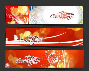 3 Christmas Banners with St6ylish Typography - Free vector #171565