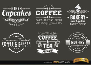 Coffee vintage labels and badges - vector #171605 gratis