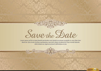 Special invitation card with floral ornaments - vector #171625 gratis