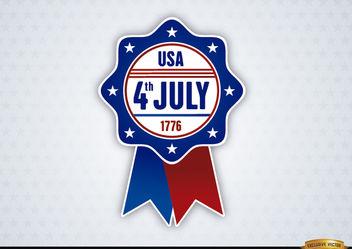 USA July 4th Ribbon - Kostenloses vector #171645