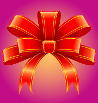 Red 3D Tied Ribbon Decoration - Free vector #171785