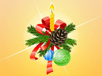 Bunch of Fluorescent 3D Xmas Ornament - vector gratuit #171815
