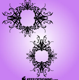 Vintage & Tribal Ornate Decor Frame - vector gratuit(e) #171855
