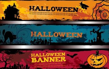 Template Halloween Banner Pack - vector gratuit #171955