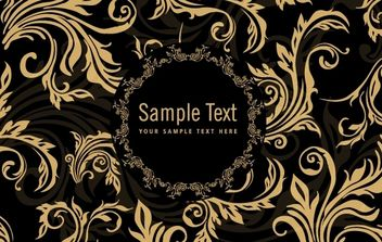 Ornamental Floral Rounded Frame - Free vector #171975