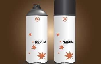 Noor Body Spray in White Can - Free vector #172015